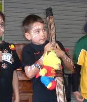 Wylder, Year 2, WA - Wilder placed first in the junior division of his school's talent quest with a traditional performance of the didgeridoo and clapsticks, to celebrate his aboriginal heritage.